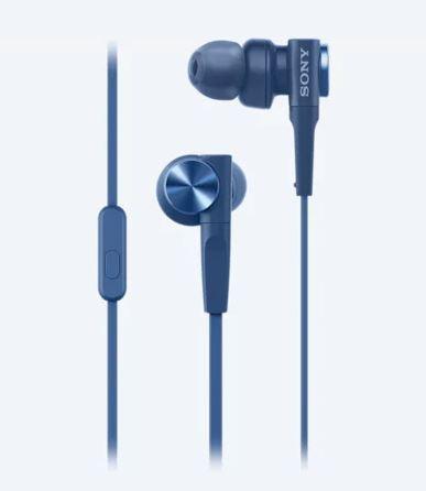 SONY MDR-XB55AP EXTRA BASS HEADPHONES (BLUE) 3