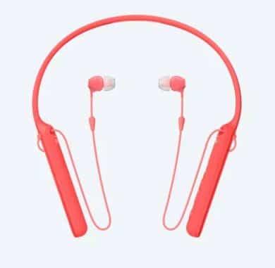 SONY WI-C400 WIRELESS IN EAR HEADSET (RED) 3
