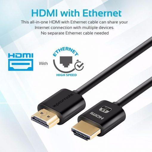PROMATE PROLINK4K2-500 4K HDMI AUDIO VIDEO CABLE